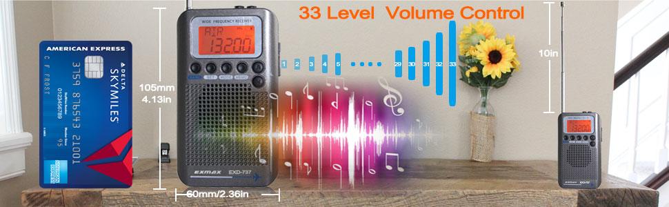 portable wide band radio receiver