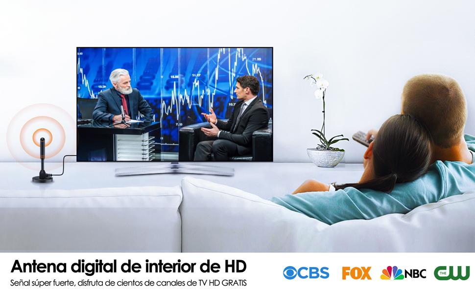 Mástil de Antena-Antena TV Interior/Exterior de Alta Ganancia de 30 dB para Receptor USB TDT/DTMB, ATSC,DVB-T, DMB-T, portátil con Base magnética Estable y Fuerte Capacidad de recepción: Amazon.es: Electrónica