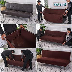 armless sofa slipcover