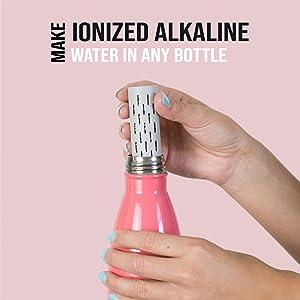 gofiltr alkaline water bottle infuser filter ph 9.5 alkalizer mineral natural electrolytes magnesium