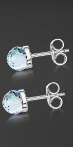 Silver Swarovski Piercing Stud