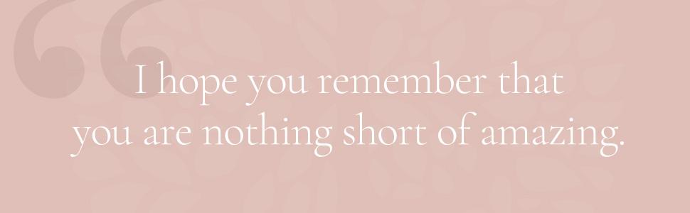 I hope you remember