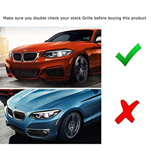 MAMINGGANG MMGang 2X Anteriore in Carbonio Bumper Grille Dual Line Grill Fit for for-BMW 2 Serie F22 F23 M235i M240I F87 M2 2014+