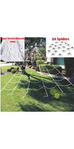 23X18 ft Triangular Mega White Spider Web