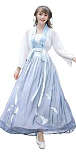 Ez-sofei Womens Ancient Chinese Traditional Costume Hanfu Fairy Dress
