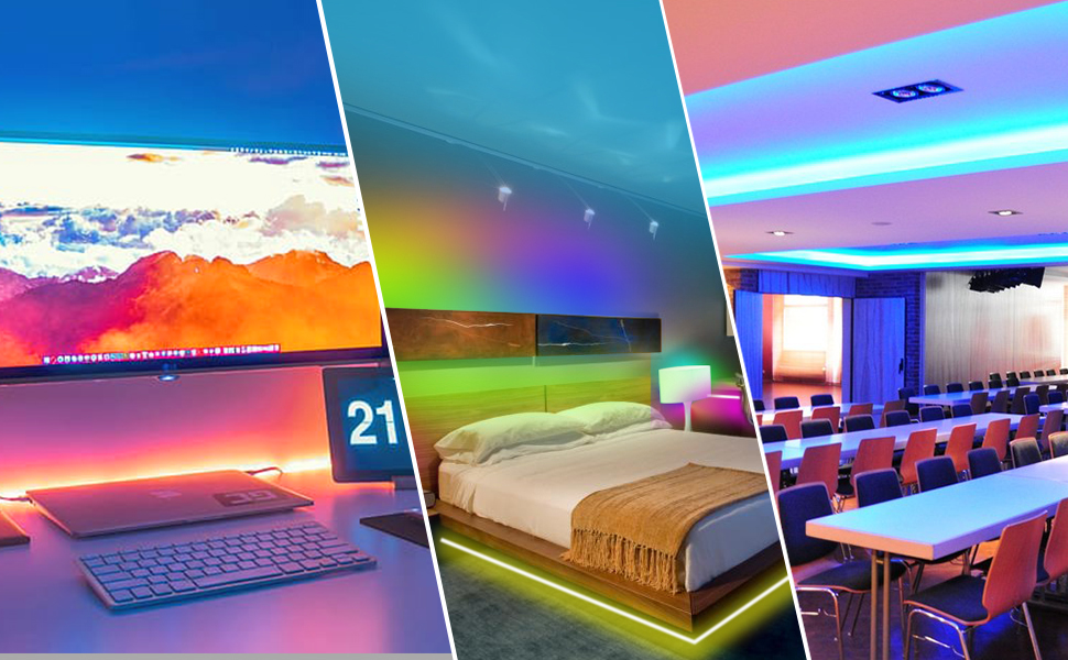 room lights strip lights with remote wifi strip lights for bedroom color changing led strip lights