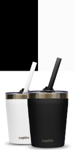 black white stainless steel kids cups lids straw