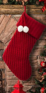 S-DEAL Knitted Christmas Stocking