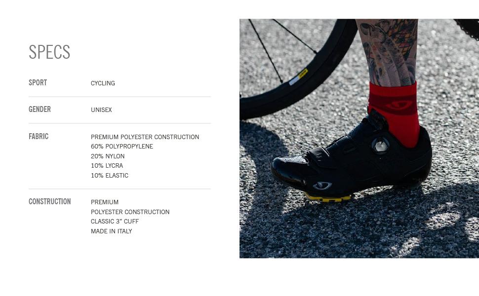 giro comp racer bike cycling socks specs