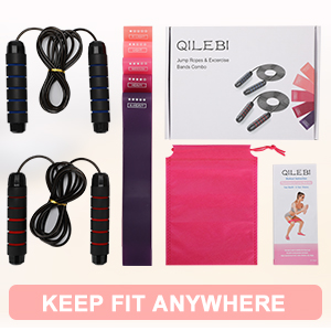 jump ropes for fitness for women 2 pack skip ropes and resistance loop bands adult kids women school