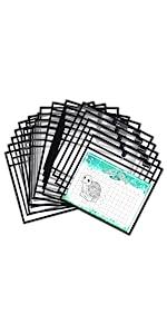 10 pack color magnetic dry erase sleeves dry erase pockets job ticket holders shop ticket holders