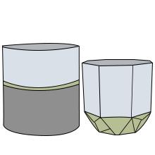ceramic flower pot freehand sketching