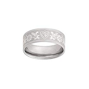 J125, Mormon, LDS Unisex, CTR Ring Daisy, Flower, Scroll,Stainless Steel ,One Moment In Time,