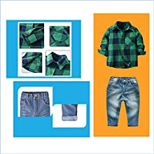 Toddler Boys Cotton Clothing Sets Short Sleeve Tee and Shorts