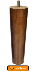 HERCHR 4 Piezas de Patas de Madera para Muebles sof/á Patas de Repuesto para Muebles de Estilo Europeo para Mesa Patas de Escritorio 10 * 5cm