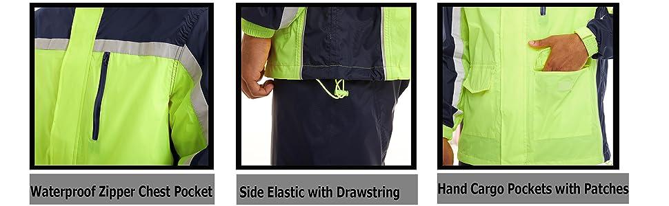 rain jackets and pants