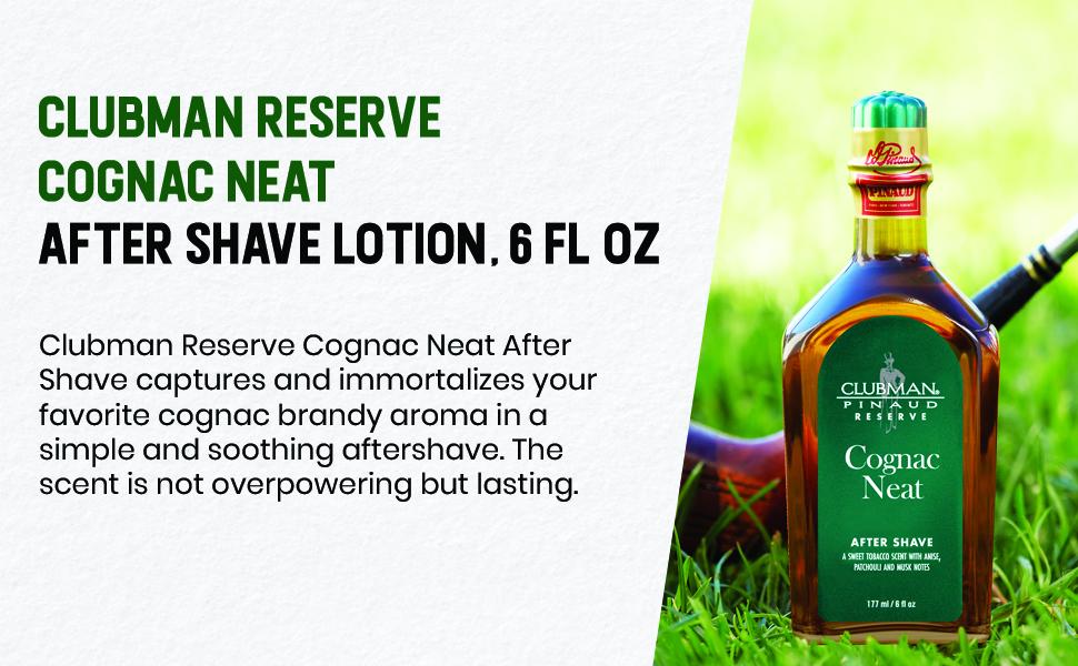 Clubman Reserve Cognac Neat After Shave Lotion, 6 fl oz