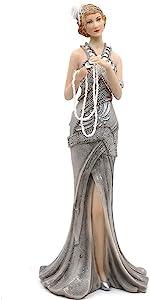 Silver Dress Lady Figurine