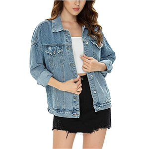 light blue distressed jean jacket