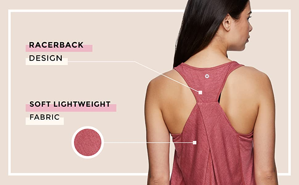 Racerback Design and Soft Lightweight Fabric
