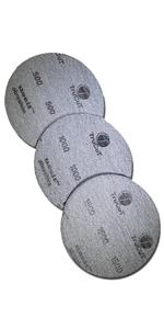 TruCut Sanding pad 3 pack 500 1000 1500 grit