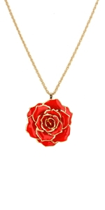 gold Blue Rose Necklace torque jewelry