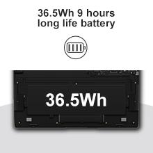 Lapbook Plus 9 hours long battery life