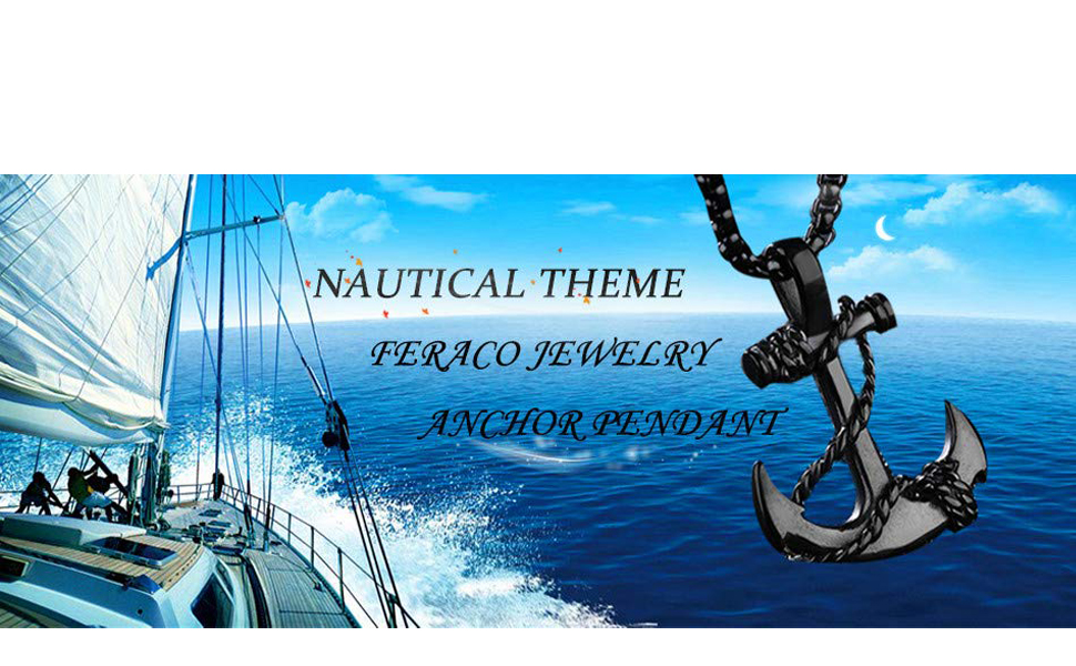 marine gift steel anniversary gift for him fork pendant stainless steel jewelry for men sailing jewelry unique jewelry anchor necklace