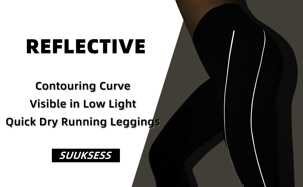 reflective cross waist leggings