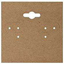 Plain Brown Kraft Earring Card
