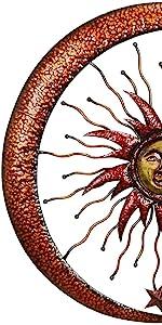 Sun Moon amp; Stars Metal Wall Hanging Garden Art