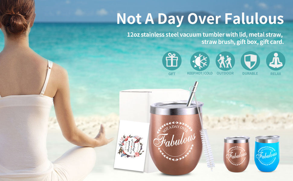 not a day over fabulous gift present for women mom lady female friend birthday Christmas mother day