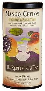 Mango Ceylon, Mango Ceylon tea, Mango Ceylon black tea, flavored black tea