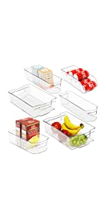 6 Pack Freezer Storage Organizer, Clear