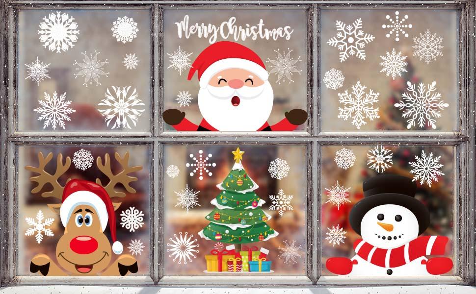 FANCY CHRISTMAS WINDOW CLINGS