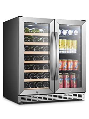 wine and beverage cooler cooler refrigerator with glass door