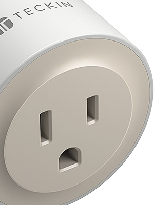 This is a mini size, delicate and elegant smart plug.