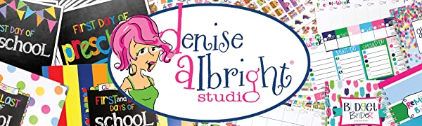Denise Albright Studio:  Reminder Binder Planner & Accessories and Back to School Collections