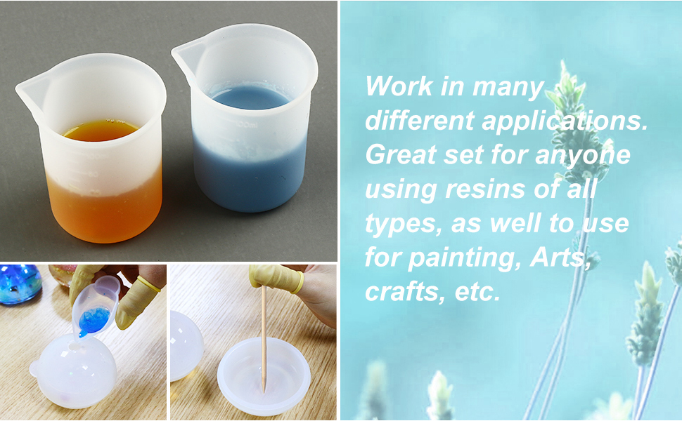 silicone mixing cups
