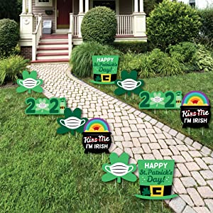 Quarantine St. Patrick's Day Lawn Decorations - Year of the Ox Yard Signs   Big Dot of Happiness