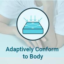 memory foam body contouring conform to body