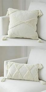 pillow cover couch bed decor white farmhouse 12x20 cute case gray small bohemian neutral geometric