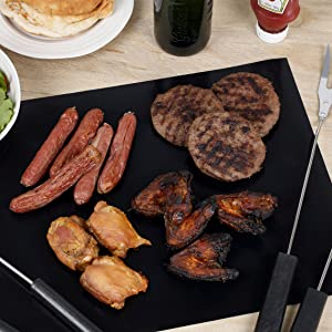 grilling bbq fry up steak sausages meats chicken outdoors indoor