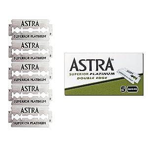 boite de 5 lames Astra fournie avec votre rasoir de securite Sapiens