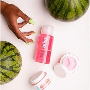 toner pictured between watermelon halves