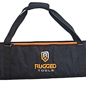 Rugged Tools pro carrying bag for track saw, guide rails