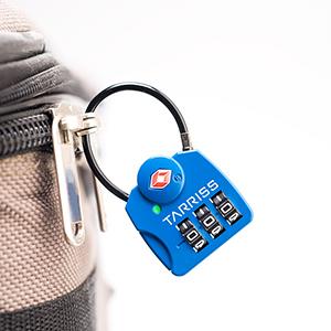 TSA cable lock, luggage lock, baggage lock, zipper cable lock