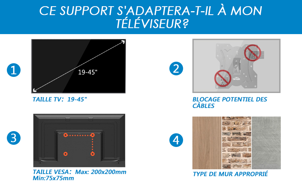 support mural tv
