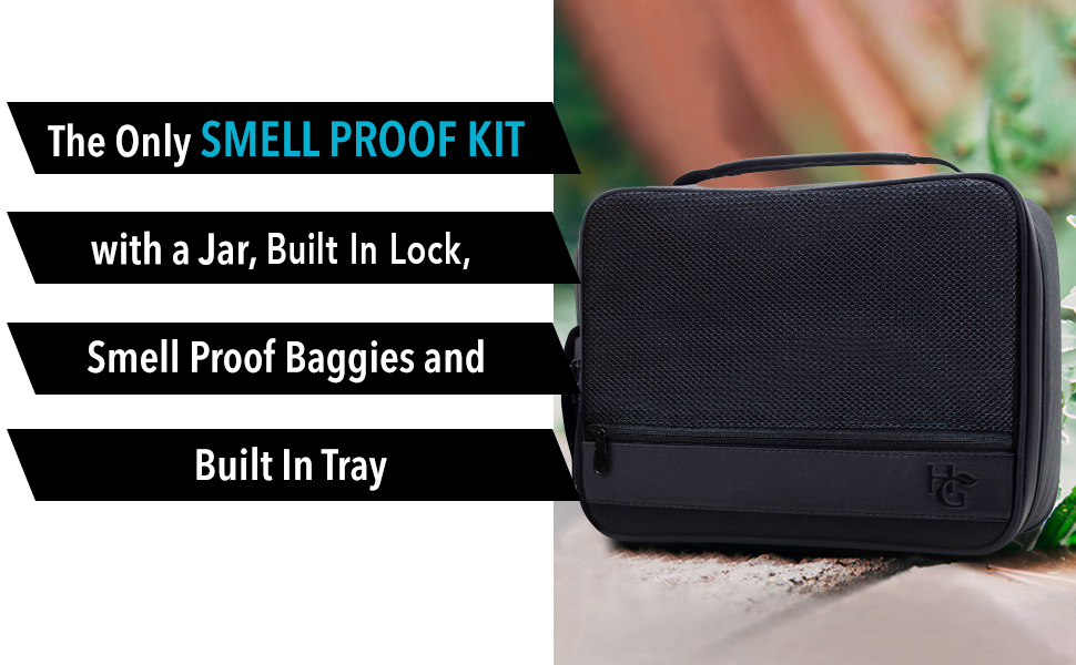 Smell Proof Bag Extra Large /& Combination Lock Smell Proof Container for Herbs
