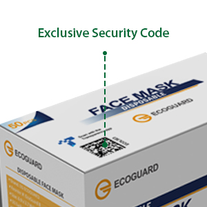 ecoguard face masks mask made in the usa american us disposable protection filter adult three layer
